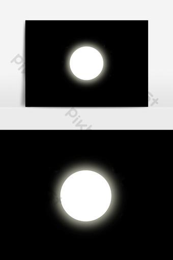 月光下無背景設計元素 元素 模板 PSD