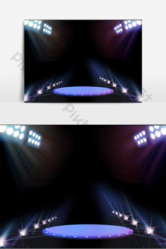 舞檯燈光效果背景設計 元素 模板 AI