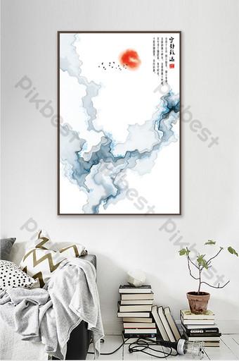臥室無框畫室內裝飾 裝飾·模型 模板 PSD