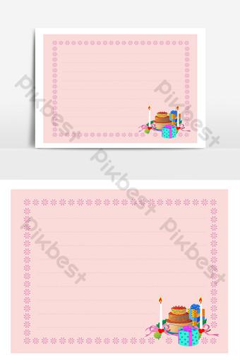 elemento de fondo de tarjeta de felicitación de patrón de cumpleaños rosa Elementos graficos Modelo CDR