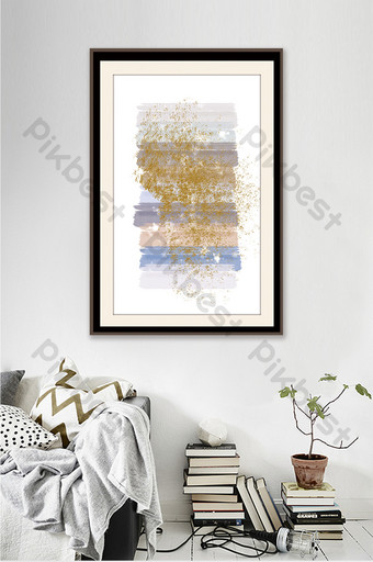 رسمت باليد لون فاتح النمط الياباني غرفة المعيشة نمط بسيط وجميل اللوحة الزخرفية الديكور والنموذج قالب PSD