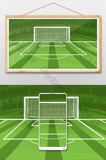 足球場背景體育場可免費添加文字海報 插畫 模板 PSD
