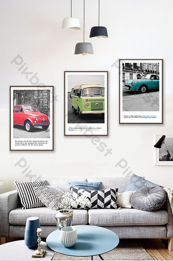 Modern city series car traffic personalized decorative painting Decors & 3D Models Template PSD