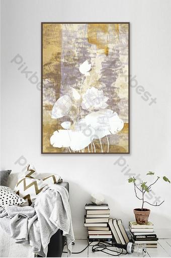 北歐現代白色花卉裝飾畫臥室 裝飾·模型 模板 PSD