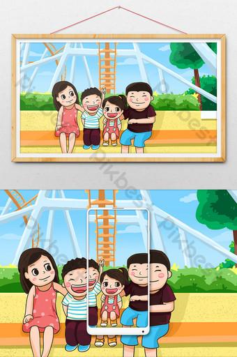 Gambar Ilustrasi Taman Bermain Gambar Ilustrasi Taman Bermain Template Psd Png Vektor Download