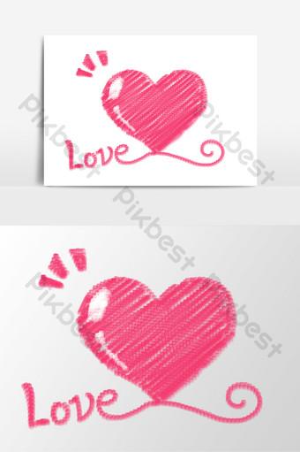 vector dibujado a mano rosa amor elementos Elementos graficos Modelo PSD