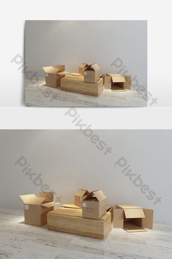 紙箱儲物盒模型效果圖 裝飾·模型 模板 MAX