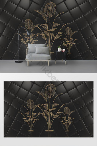 modern dan sederhana 3d lingkaran paket lembut dinding latar belakang tv bunga Dekorasi dan model Templat PSD