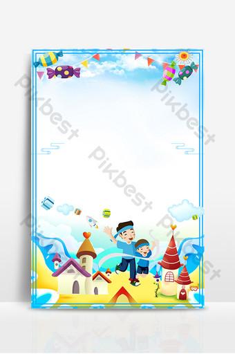 كارتون الأطفال الرياضية تصميم الإعلان خريطة الخلفية خلفيات قالب PSD