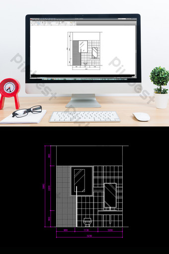 Amélioration de l'habitat salle de bain dessin tridimensionnel dessins CAO Décoration et modèle Modèle DWG