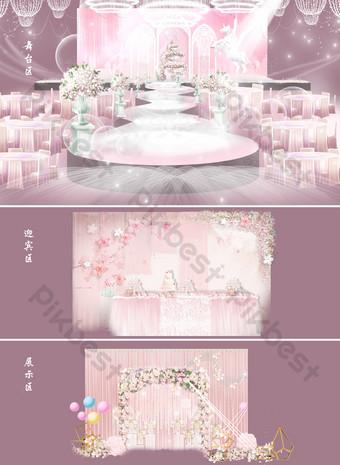 صور زفاف أبيض رمادي صور الاداءات قالب PSD