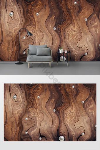 Kayu modern minimalis mutiara gaya modern menghiasi dinding latar belakang kustom Dekorasi dan model Templat PSD
