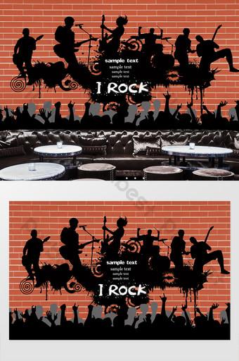 rock bar restaurante ktv herramientas fondo pared Decoración y modelo Modelo PSD