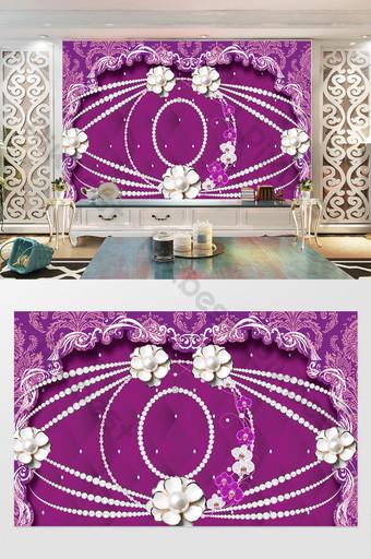flor de perla elegante rosa rojo bolso suave pared de fondo europeo Decoración y modelo Modelo PSD