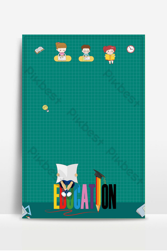 Cartoon Education Poster Background Image Backgrounds Psd Free