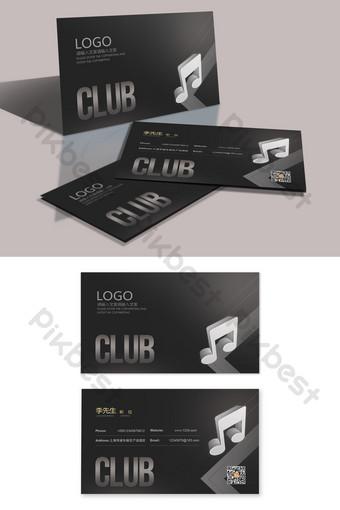 Carte créative de KTV Music Club Business Modèle PSD