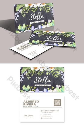 Maquillage artiste carte de visite beauté fleur boutique femmes s Modèle PSD