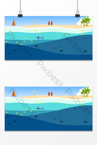Small fresh seaside fish design background map Backgrounds Template AI