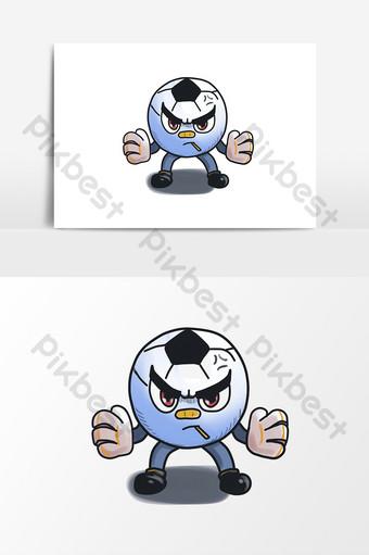 Éléments de gardien de but de football mignon Éléments graphiques Modèle PSD