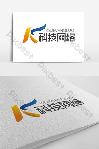 signo de logotipo de red de tecnología de letra k de moda Modelo AI