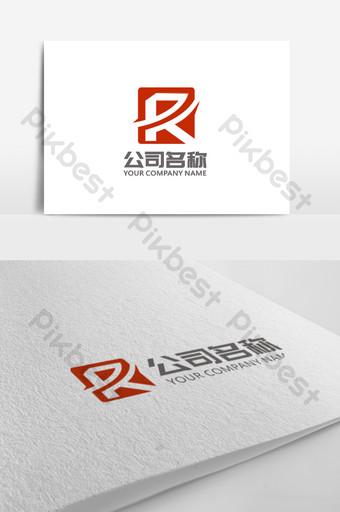 conciso y estilo chino sello r letra logo signo Modelo CDR