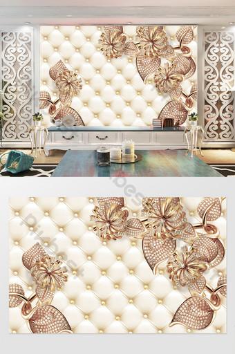 3d مجوهرات فسيفساء حزمة لينة خلفية الجدار الديكور والنموذج قالب PSD