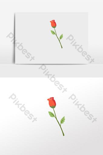 Kartun Bunga Mawar Templat Psd Vektor Png Download Gratis Pikbest