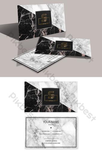 Carte de visite d'estampage à chaud en marbre de haute qualité Modèle PSD