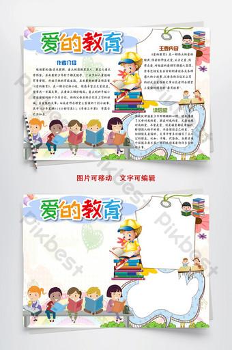 linda tarjeta civilización amor educación tabloide manuscrito periódico plantilla de word Word Modelo DOC