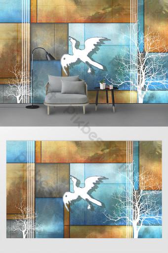Pared de fondo de bloque de color de bosque de niebla blanca hermosa y simple moderna Decoración y modelo Modelo PSD