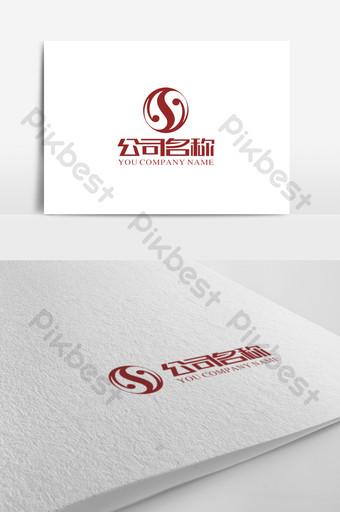 signo de logotipo gráfico de tai chi de letra s simple y elegante Modelo CDR