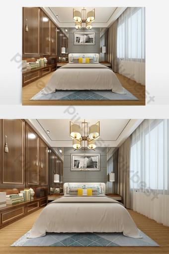 現代簡約風格臥室最大效果圖 裝飾·模型 模板 MAX