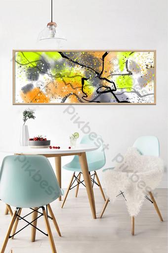 現代抽象油畫臥室床頭客廳掛飾 裝飾·模型 模板 PSD