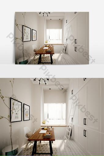 Carte d'effet d'étude de petite chambre à coucher max Décoration et modèle Modèle MAX
