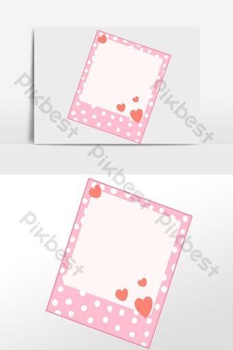 لون إطار الصورة الحب الصغير الحدود الزخرفية التوضيح صور PNG قالب PSD