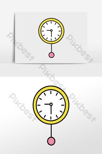 عنصر ساعة الحائط المنزلية الصغيرة الطازجة الرسم التوضيحي قالب AI
