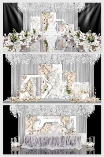 الحديثة الراقية الاداءات نموذج الزفاف الرخام الرمادي الديكور والنموذج قالب PSD