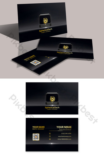 Cartes de visite de marchands de jade de bijoux de luxe en or haut de gamme Modèle PSD