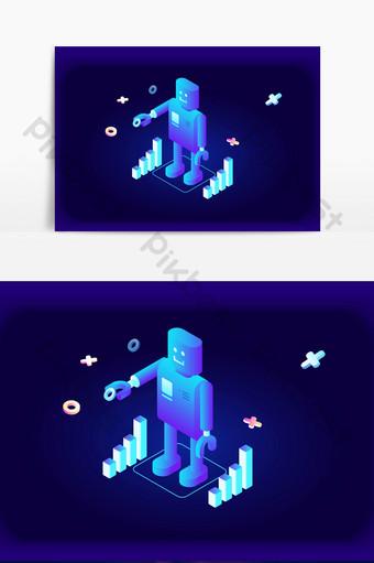 vector de efecto de luz transparente robot tridimensional Elementos graficos Modelo AI