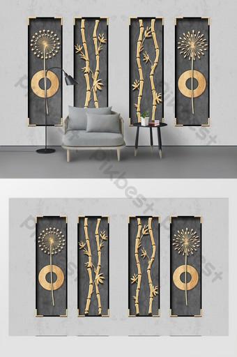 الحد الأدنى الحديثة معدن الحديد المطاوع الديكور التلفزيون خلفية الجدار الديكور والنموذج قالب PSD