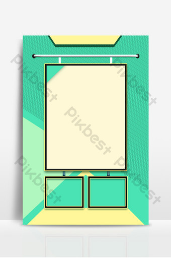 Green fresh cartoon event poster single page background Backgrounds Template PSD