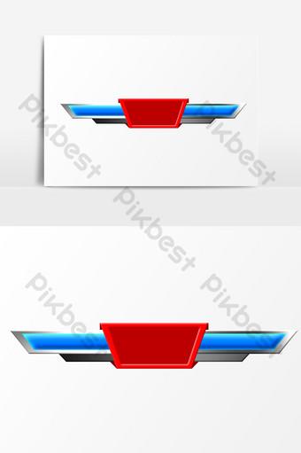 Tableau de bord sportif bleu PSD Éléments graphiques Modèle PSD