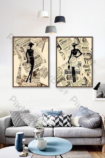 文學後現代創意時尚人物客廳臥室裝飾畫 裝飾·模型 模板 PSD