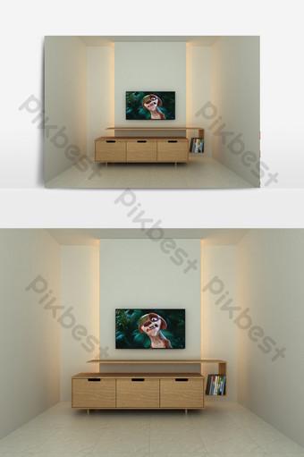 臥室電視櫃展示場景 裝飾·模型 模板 MAX