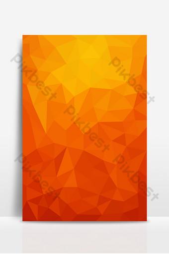 Conception de fond d'élément de grille plate simple style technologie dégradé orange Fond Modèle AI
