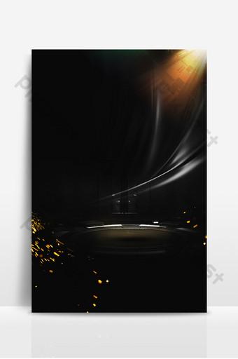 舞台黑金光效廣告設計背景圖 背景 模板 PSD