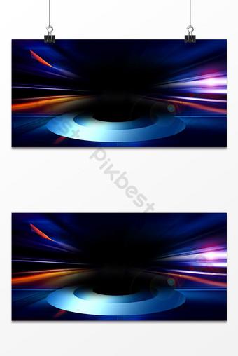 藍色舞檯燈光效果廣告設計背景圖 背景 模板 PSD