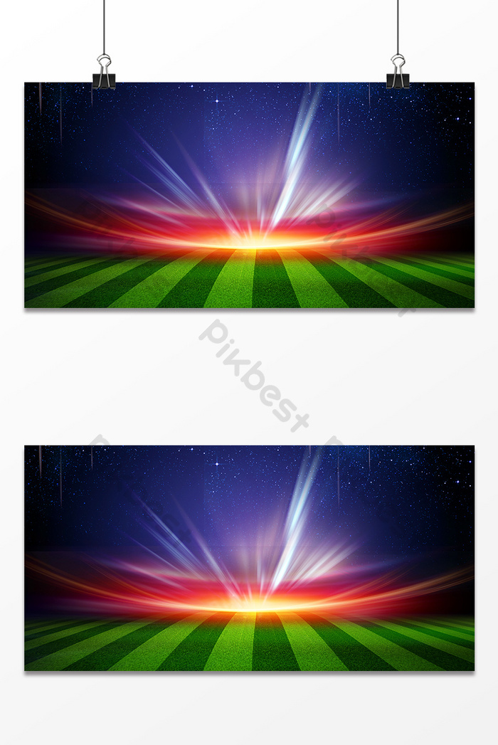 A Glittering Ad Design Background Image On The Football Field