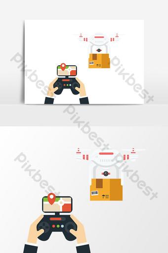 卡通手繪無人機設計元素 元素 模板 AI