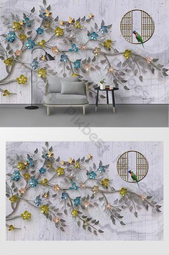 modern dan sederhana dinding latar belakang pohon kreatif Dekorasi dan model Templat PSD
